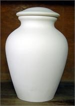 Cremation Urn - Plain LG  BISQUE (Unpainted)