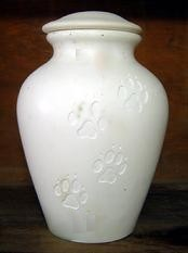 Cremation Urn - for Dog or Cat LG BISQUE (Unpainted)