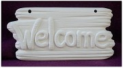Welcome Sign & Post Nail BISQUE (Unpainted)