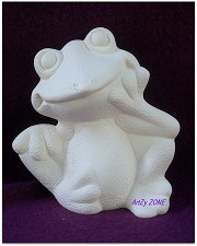 Frog #2 - Thinker BISQUE (Unpainted)