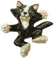 Cat Attitude LG - Lying on Back BISQUE (Unpainted)