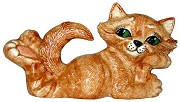 Cat Attitude LG - Lying on Belly BISQUE (Unpainted)