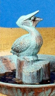 Pelican for 2841 (Fountain) BISQUE (Unpainted)