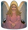Votive Candle - Angel CUTOUT BISQUE (Unpainted)