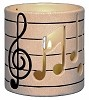 Votive Candle - Music Notes CUT BISQUE (Unpainted)