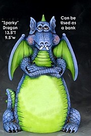 Dragon Sparky - Bank BISQUE (Unpainted)