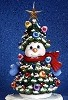 Christmas Tree Snowman - Lited BISQUE (Unpainted)