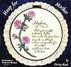 Embroidery Hoop - Mother Saying BISQUE (Unpainted)