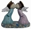Orna - Wooden Kissing Angels BISQUE (Unpainted)