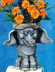 Animal Pot - Maggie-Elephant BISQUE (Unpainted)