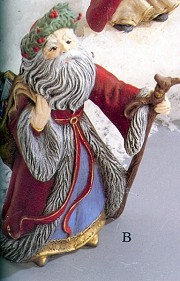 Santa - Antique German BISQUE (Unpainted)