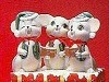 TRIO Set - Singing Mice BISQUE (Unpainted)
