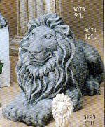Stone Lion Statue - Lying BISQUE (Unpainted)