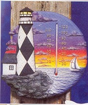 Thermometer - Lighthouse BISQUE (Unpainted)