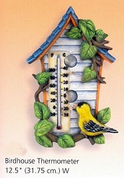 Thermometer - Birdhouses BISQUE (Unpainted)