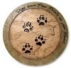 Memorial Plaque - Dogs Paws BISQUE (Unpainted)